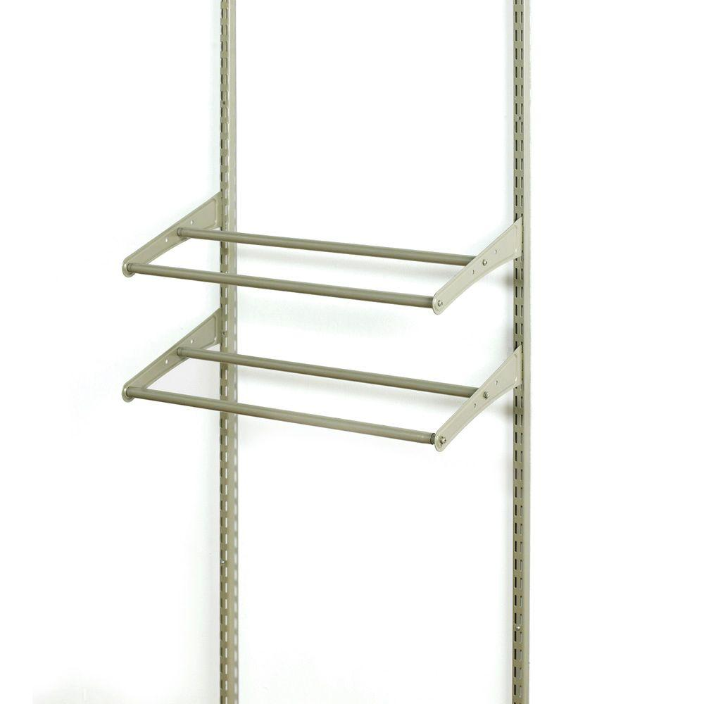 ClosetMaid ShelfTrack 10-Pair 24 - 42 in. W Nickel Adjustable Shoe Organizer