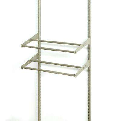 ShelfTrack 24 - 42 in. W Nickel Adjustable Shoe Shelf