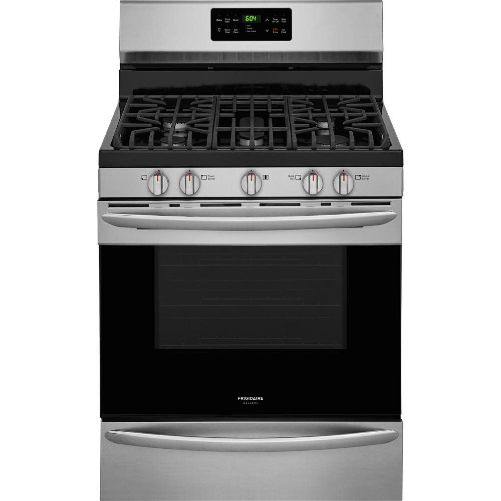 5.0 cu. ft. Gas Range with Self-Cleaning QuickBake Convection Oven in