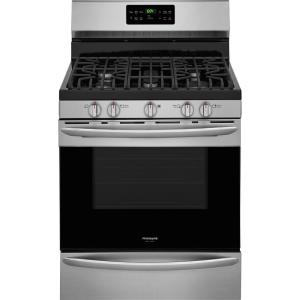 Frigidaire Gallery 5.0 cu. ft. Gas Range with Self-Cleaning QuickBake Convection Oven in Smudge-Proof Stainless Steel by Frigidaire Gallery