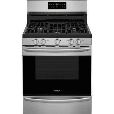 5.0 cu. ft. Gas Range with Self-Cleaning QuickBake Convection Oven in Smudge-Proof Stainless Steel