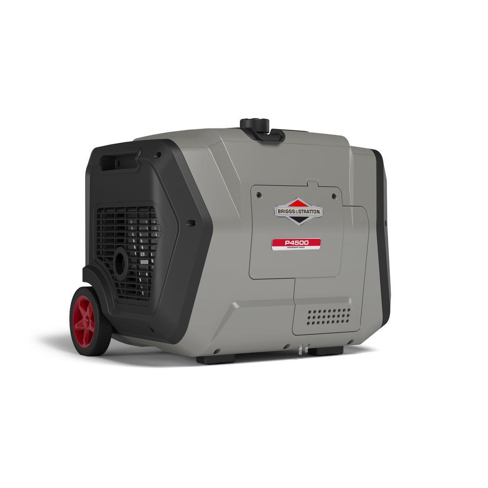 Briggs   Stratton P4500 PowerSmart 4500-Watt Electric Start Gasoline Powered Inverter Generator with OHV Engine