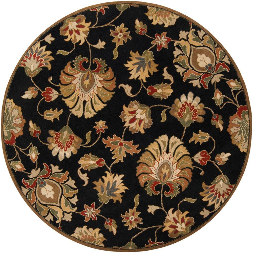 Artistic Weavers John Black 6 ft. Round Area Rug