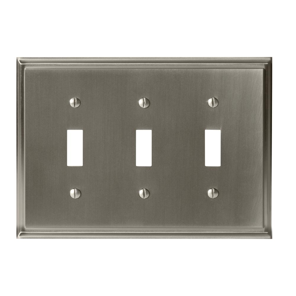 Metal Switch Plates Wall The Home Depot Image For Circuit Breaker Finder With Gfci From Graybarstore Mulholland 3 Toggle Plate Satin Nickel