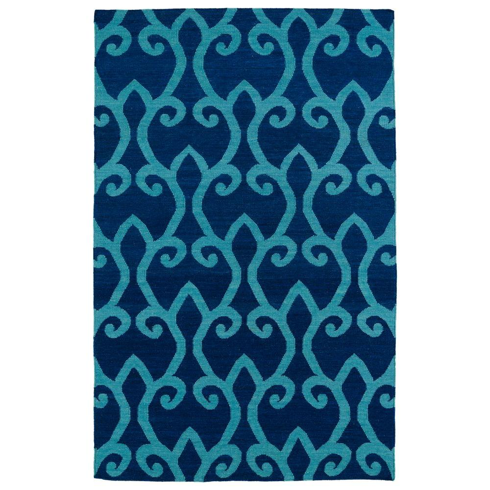 Glam Blue 5 ft. x 8 ft. Area Rug