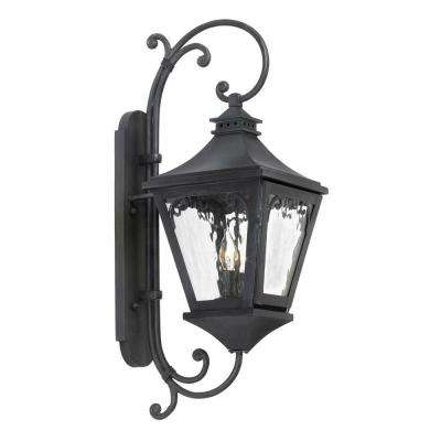 Manor 2-Light Wall Mount Outdoor Charcoal Sconce