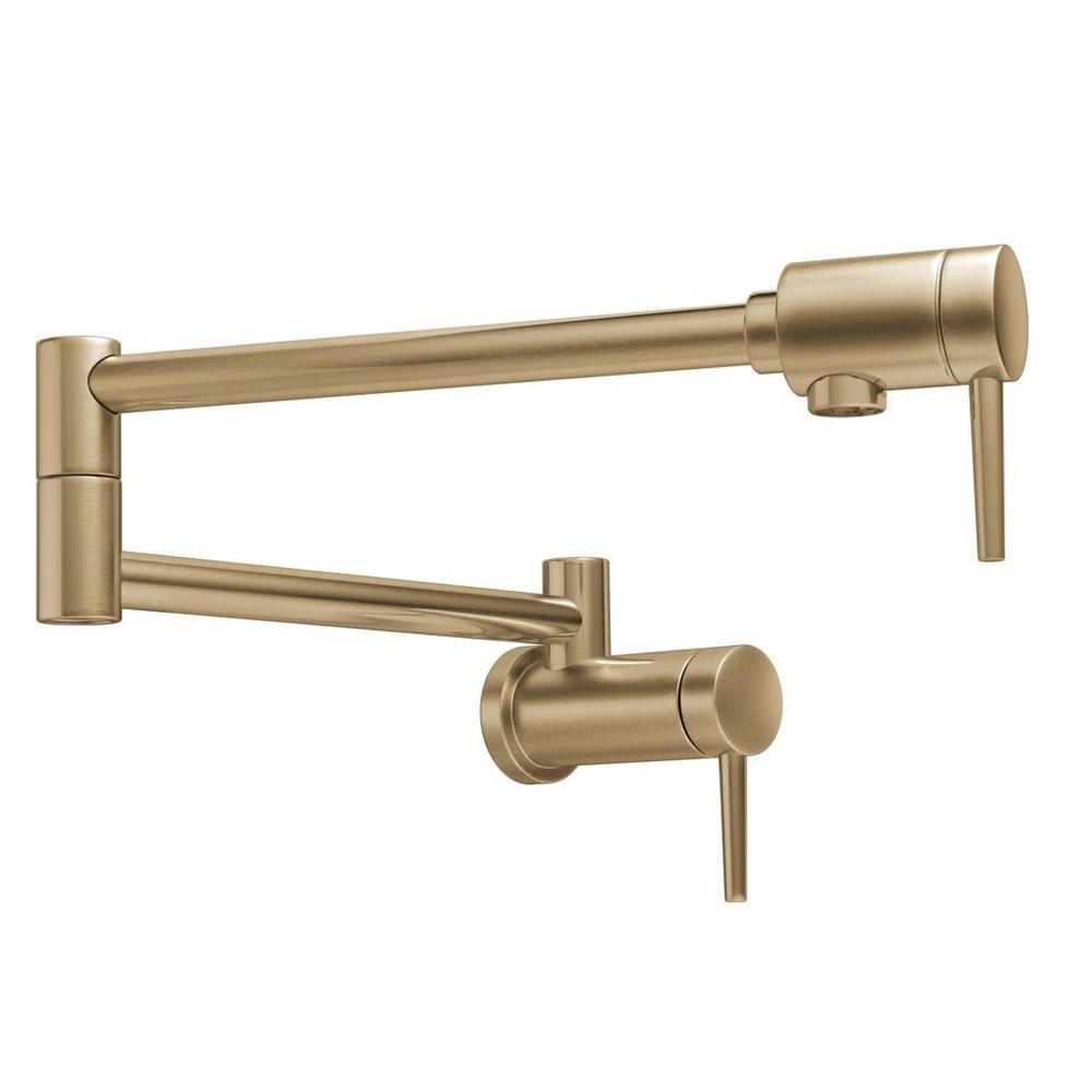 Delta Contemporary Wall Mounted Potfiller In Champagne Bronze