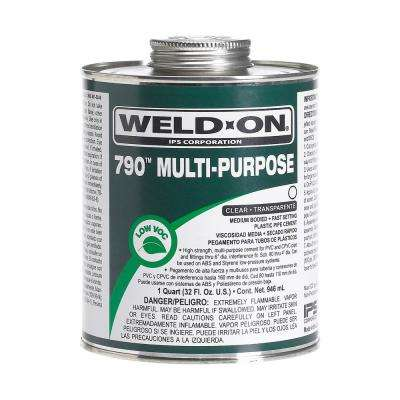 8 oz. PVC 790 Multi-Purpose Cement in Clear