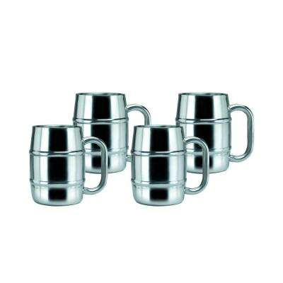 16.9 oz. Keep-Kool Double Wall Stainless Steel Mug (Set of 4)