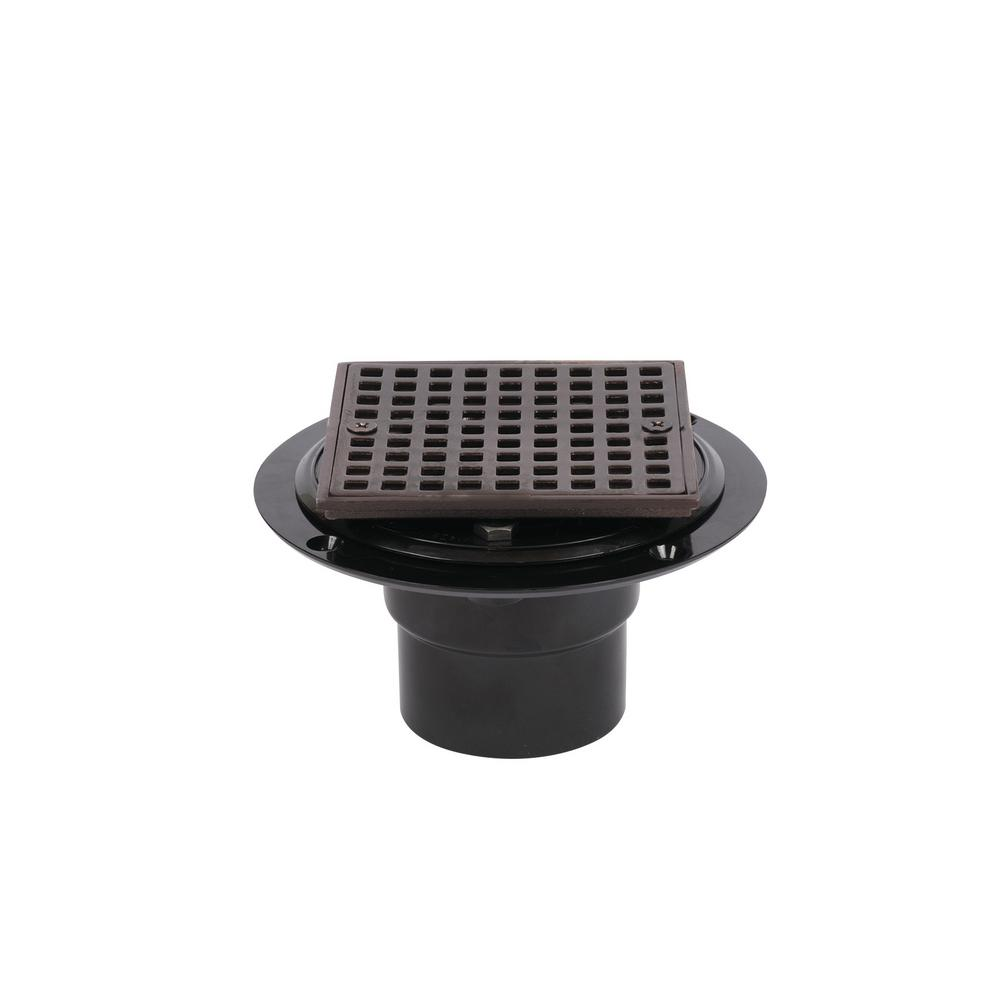 Oil Rubbed Bronze Shower Drain.Oatey Abs Shower Drain With Square 4 3 16 In Oil Rubbed Bronze Strainer