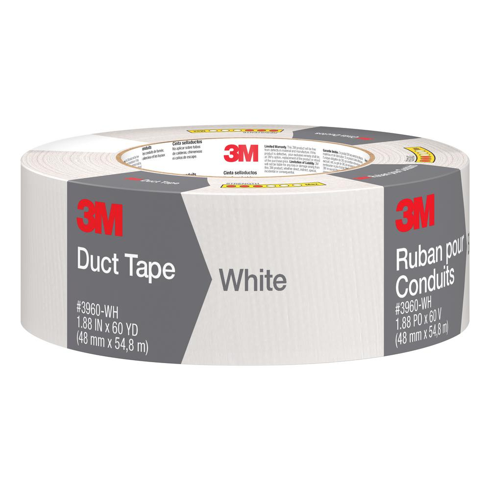 3M 1.88 in. x 60 yds. White Duct Tape