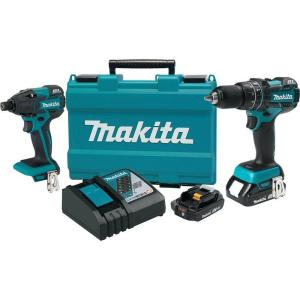 Makita 18-Volt LXT Lithium-Ion Brushless Cordless Hammer Drill and Impact Driver Combo Kit... by Makita
