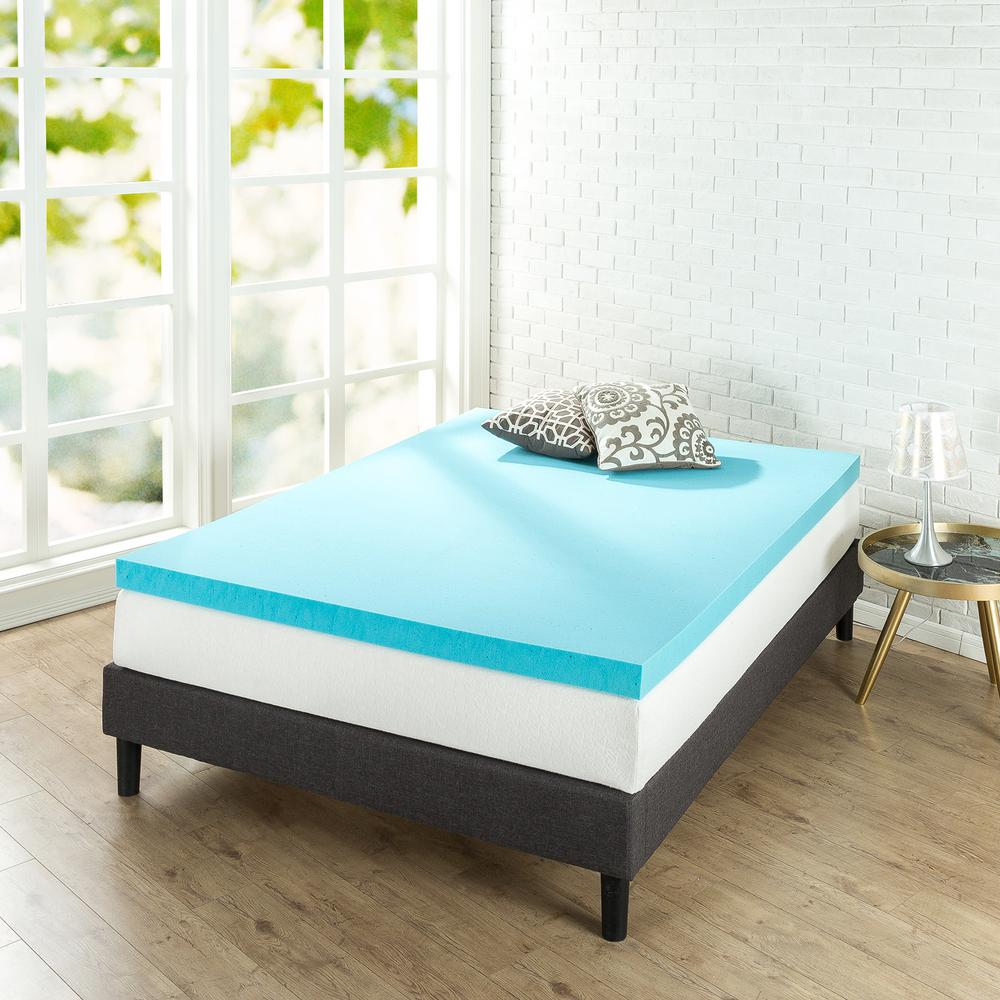 mattress memory full itm topper size gel cooling beautyrest foam inch