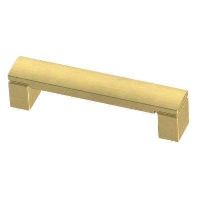 Simply Geometric 3-3/4 in. (96mm) Brushed Brass Drawer Pull