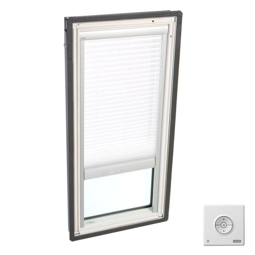 Solar Powered Light Filtering White Skylight Blinds for FS D26 and