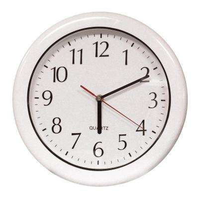 12 in. White Clock