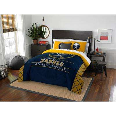 Sabres Draft 3-Piece Multi-Color Polyester Full/Queen Comforter Set