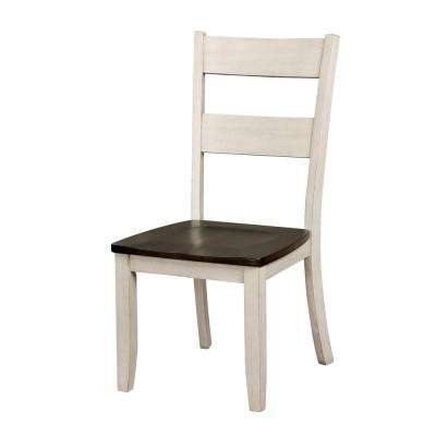 Chelsea Antique White Wood Ladder Side Chair (Set of 2)
