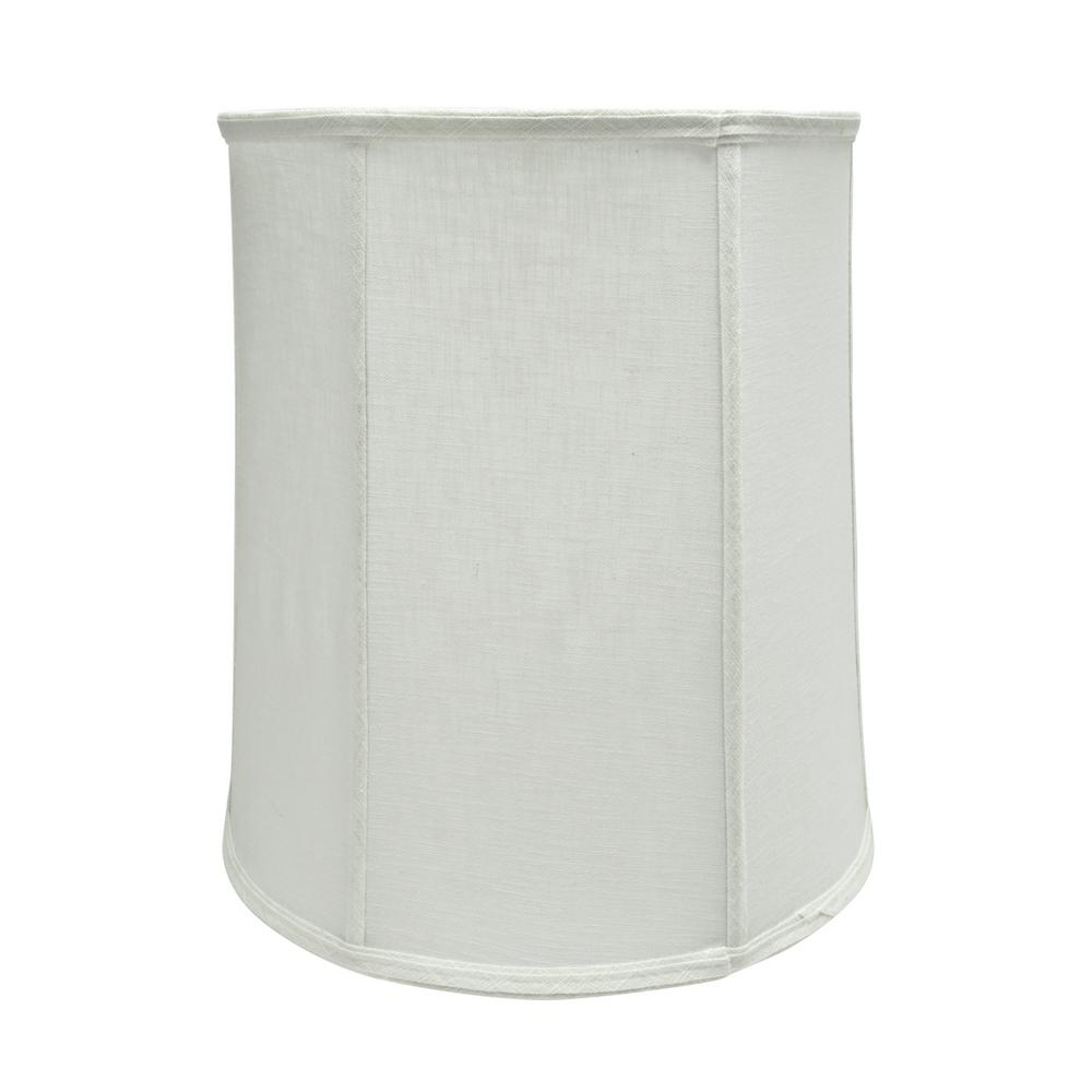 14 in. x 15 in. Off White and Vertical Piping Drum/Cylinder