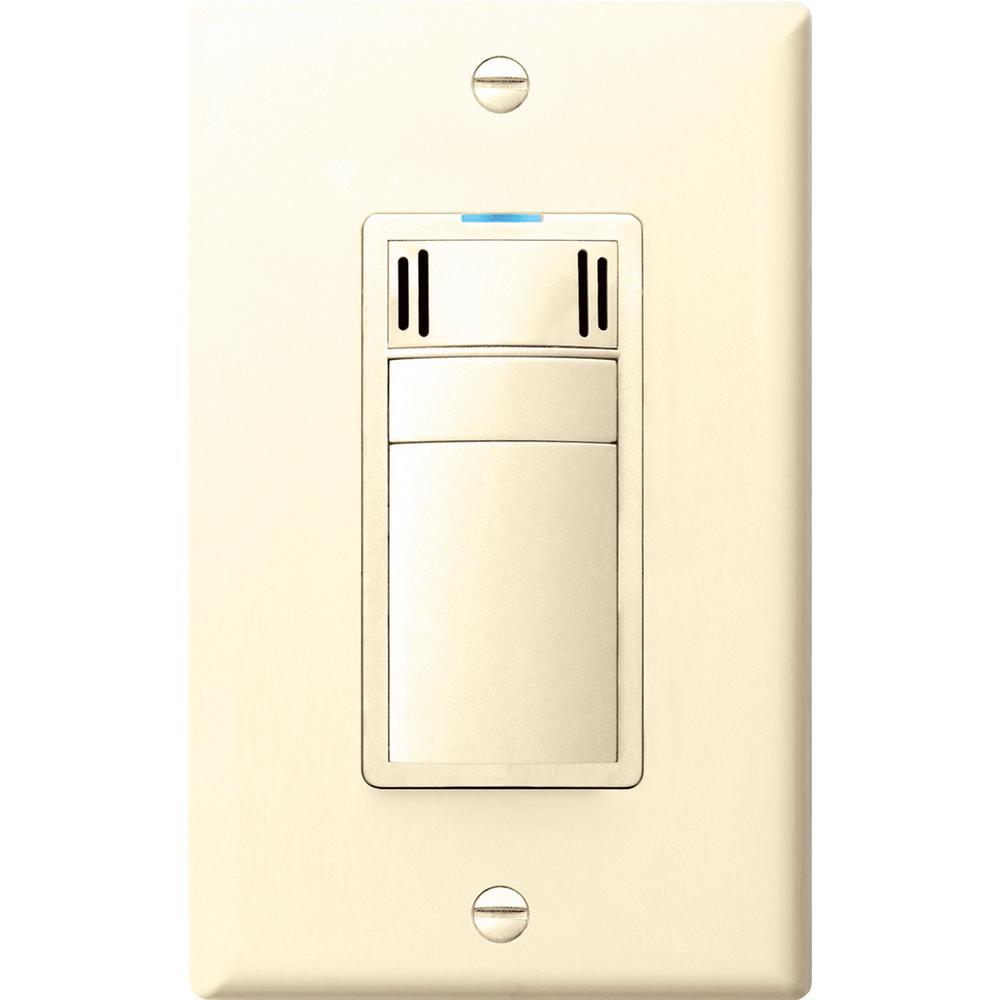 Panasonic WhisperControl 3-Function On/Off Switch with Humidity Control and Timer in Almond