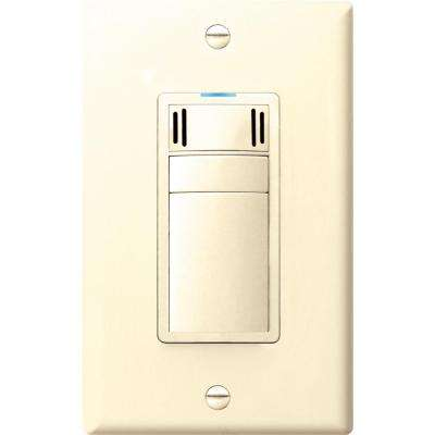WhisperControl 3-Function On/Off Switch with Humidity Control and Timer in Almond