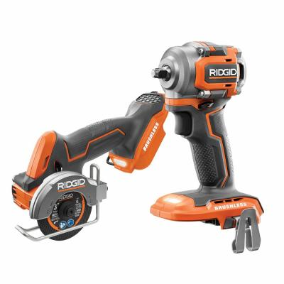 18-Volt SubCompact Lithium-Ion Brushless Cordless 3/8 in. Impact Wrench and 3 in. Multi-Material Saw (Tools Only)
