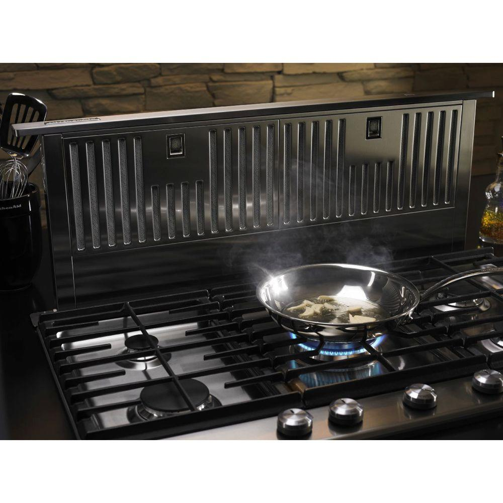 Kitchenaid 36 In Telescopic Downdraft System In Stainless Steel Kxd4636yss The Home Depot