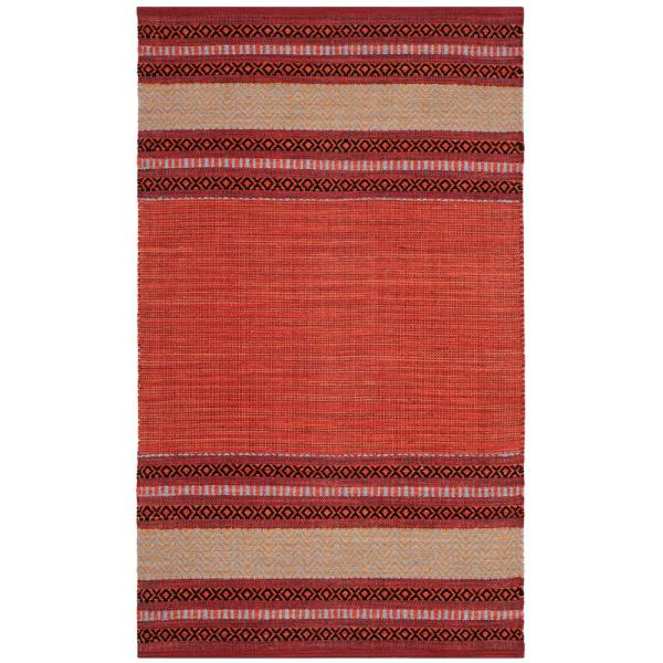 Montauk Red/Ivory 3 ft. x 5 ft. Area Rug