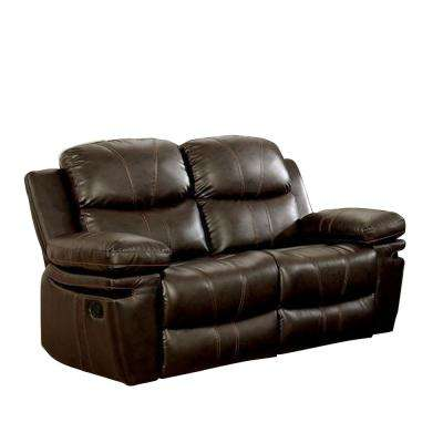 Listowel Brown Transitional Style Recliner