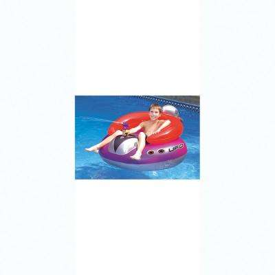 45 in. UFO Spaceship Squirter Pool Float with Attached Squirt Gun