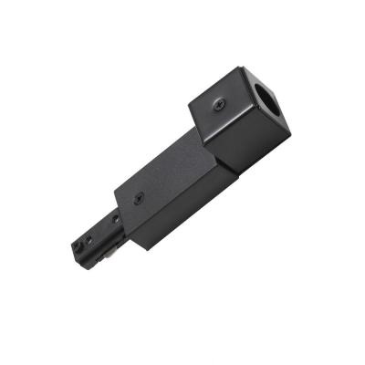 1.5 in. Black Metal Live End Connector with Conduit Fitter