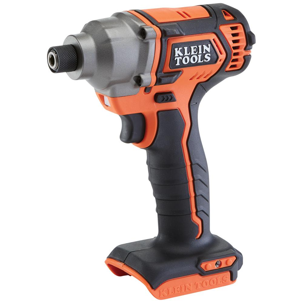 Klein Tools Battery-Operated Compact Impact Driver, 1/4 inch Hex Drive, Tool Only
