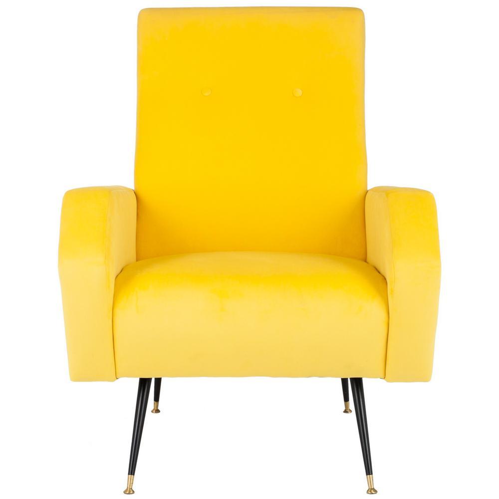 Aida Yellow Accent Chair