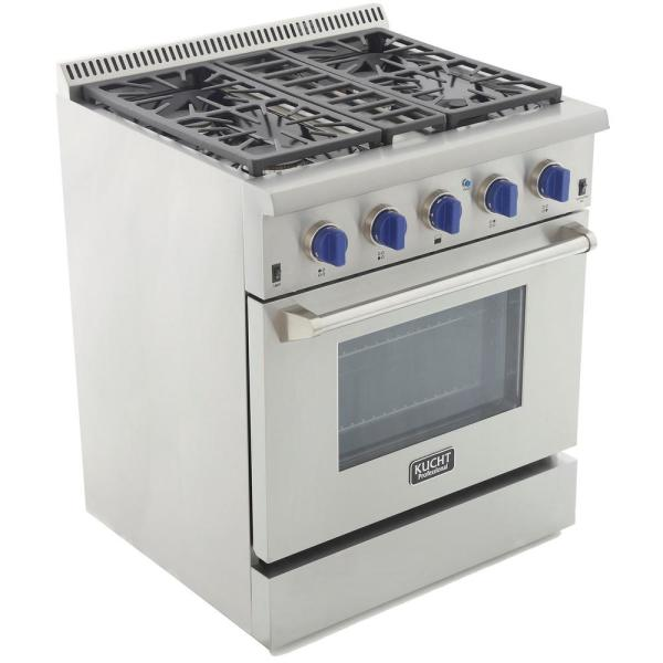 Kucht KRT3003U Professional 30 Natural Gas Range-Top with Sealed Burners in Stainless Steel 30 inch