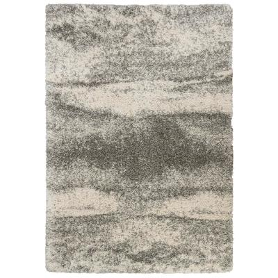Stormy Gray 2 ft. x 3 ft. Abstract Scatter Area Rug