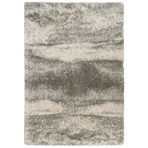 Stormy Gray 8 ft. x 10 ft. Abstract Area Rug