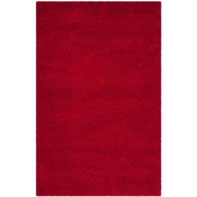 Milan Shag Red 4 ft. x 6 ft. Area Rug