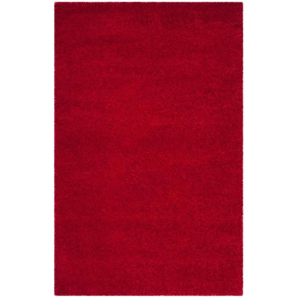 Milan Shag Red 6 ft. x 9 ft. Area Rug