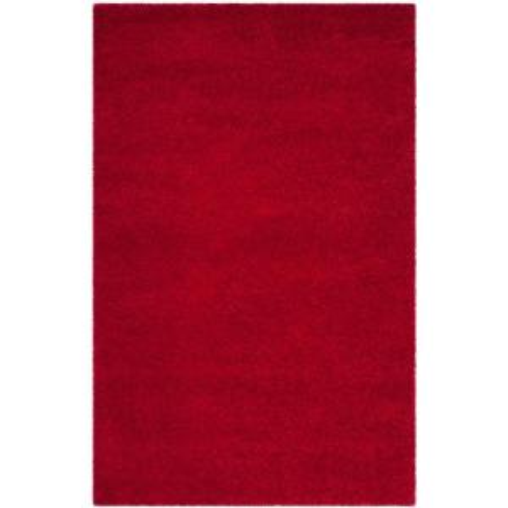 Safavieh Milan Shag Red 6 Ft X 9 Ft Area Rug Sg180 4040