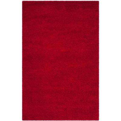 Milan Shag Red 9 ft. x 12 ft. Area Rug
