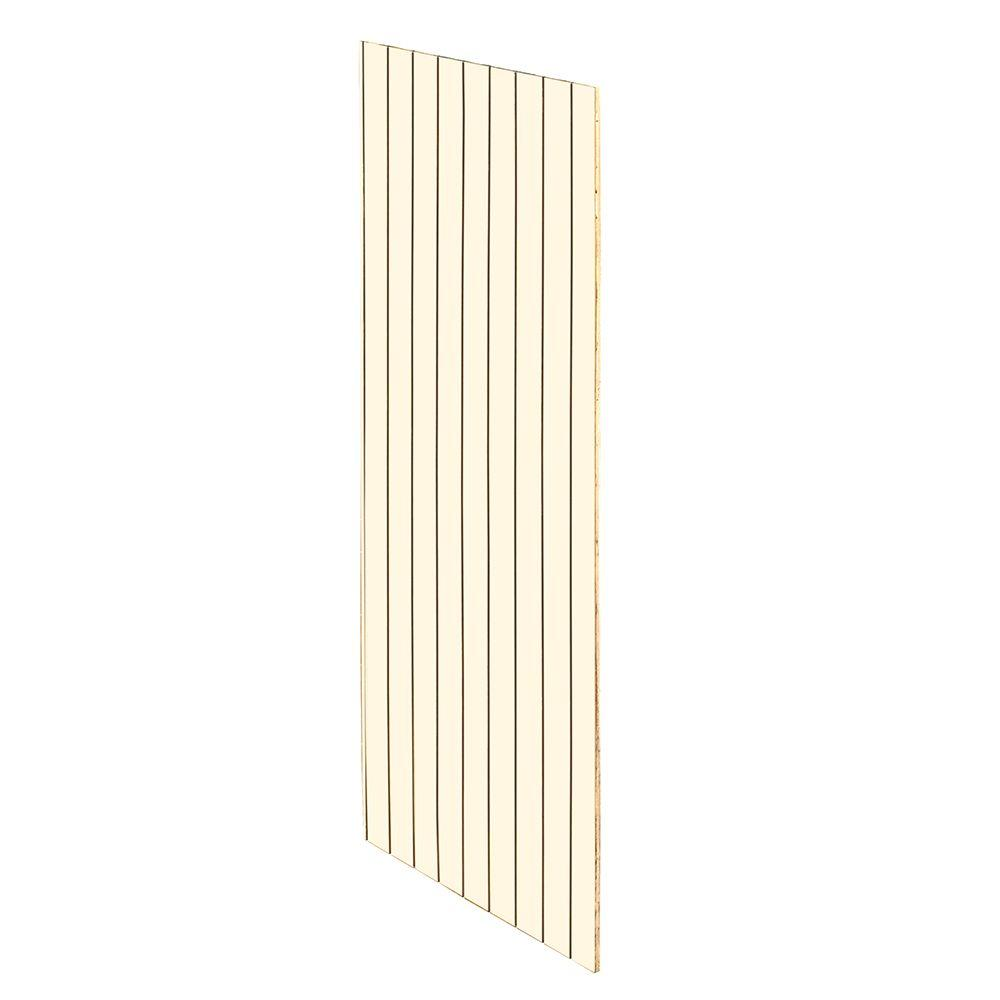 Home Decorators Collection Holden Assembled 23.25 x 96 x .25 in. Pantry/Utility Tall Skin End Panel with V-Groove