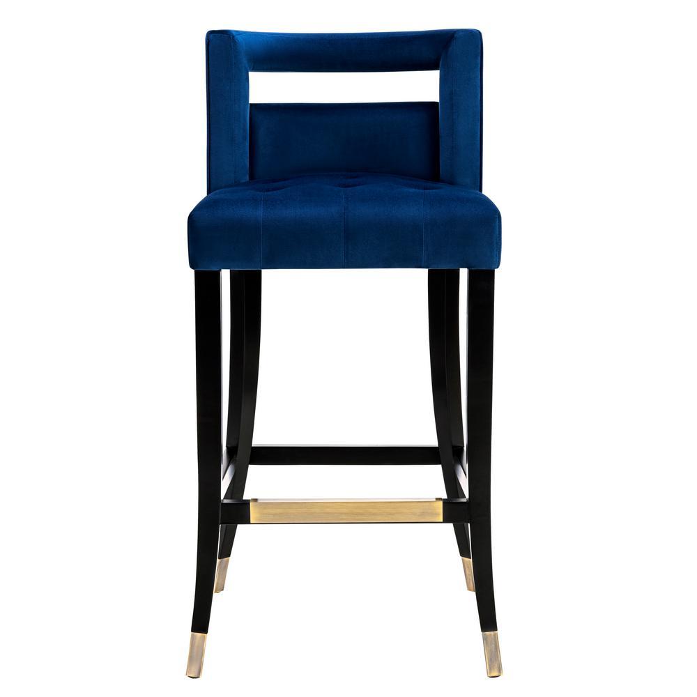 Tov Furniture Hart Navy Velvet Bar Stool Tov Bs23 The