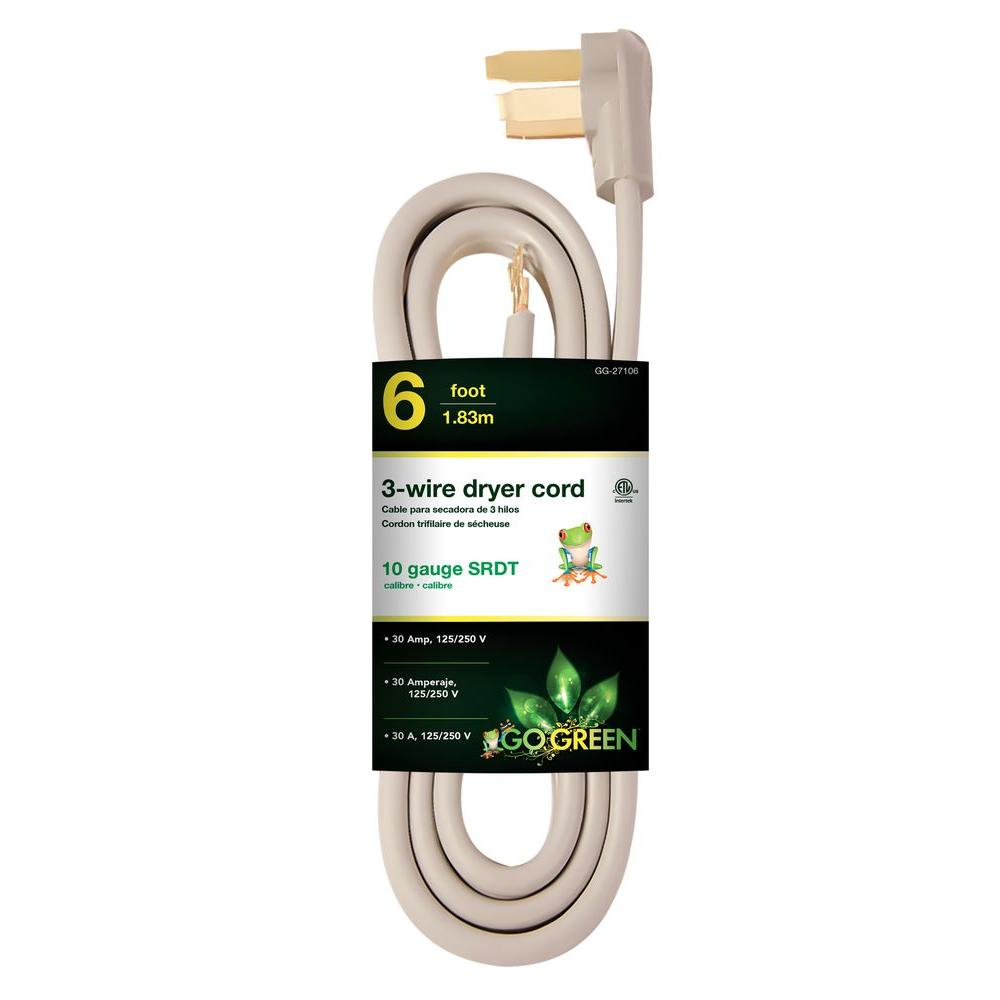 Wiring Money From Walmart To Hdx 6 Ft 10 3 Wire Dryer Cord Hd627 833 The Home Depot