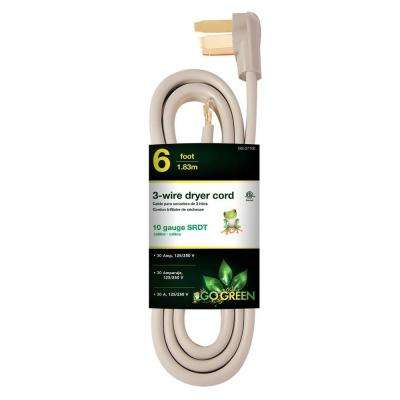 6 ft. 10-Gauge SRDT Dryer Cord