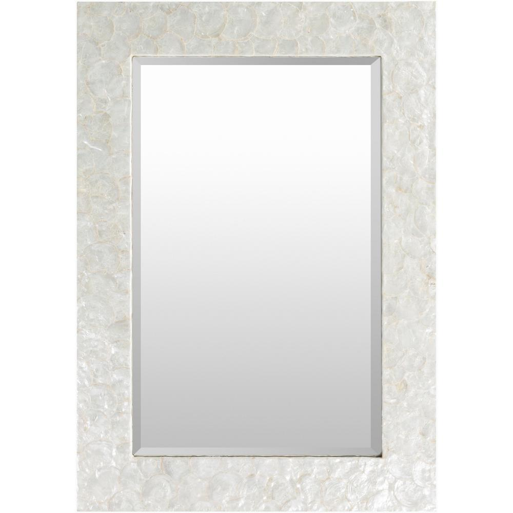 Yelverton 40 in. x 28 in. Coastal Framed Mirror