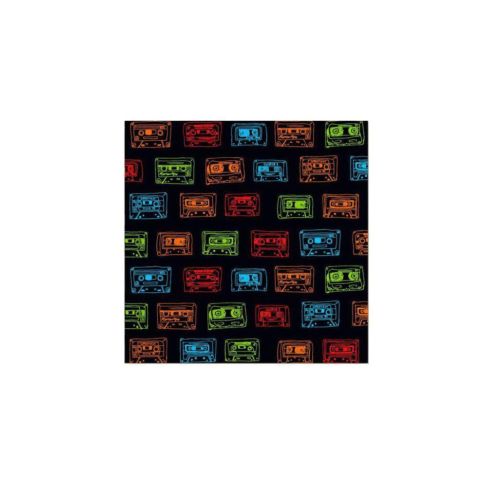 null 35 in. x 35 in. Our Mixtape Navy Canvas Art