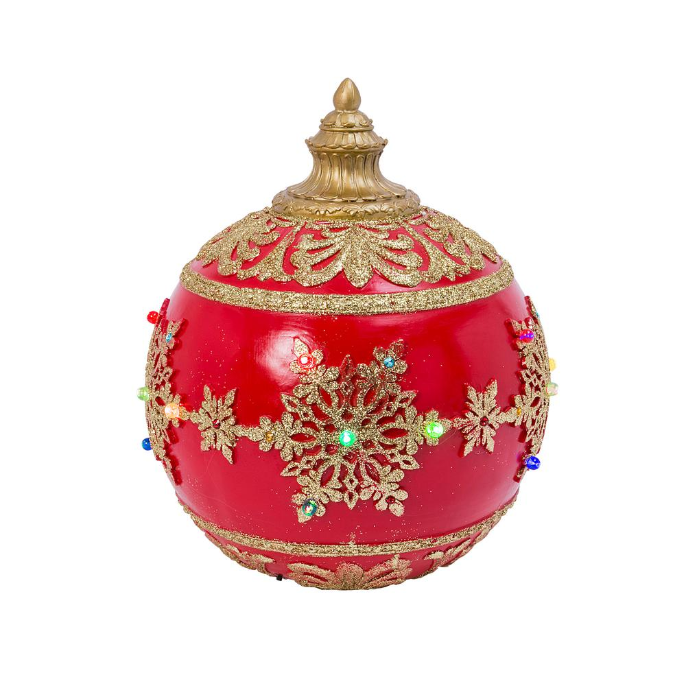 Gerson 18 In. D Red Polyresin Jumbo Musical Ornament