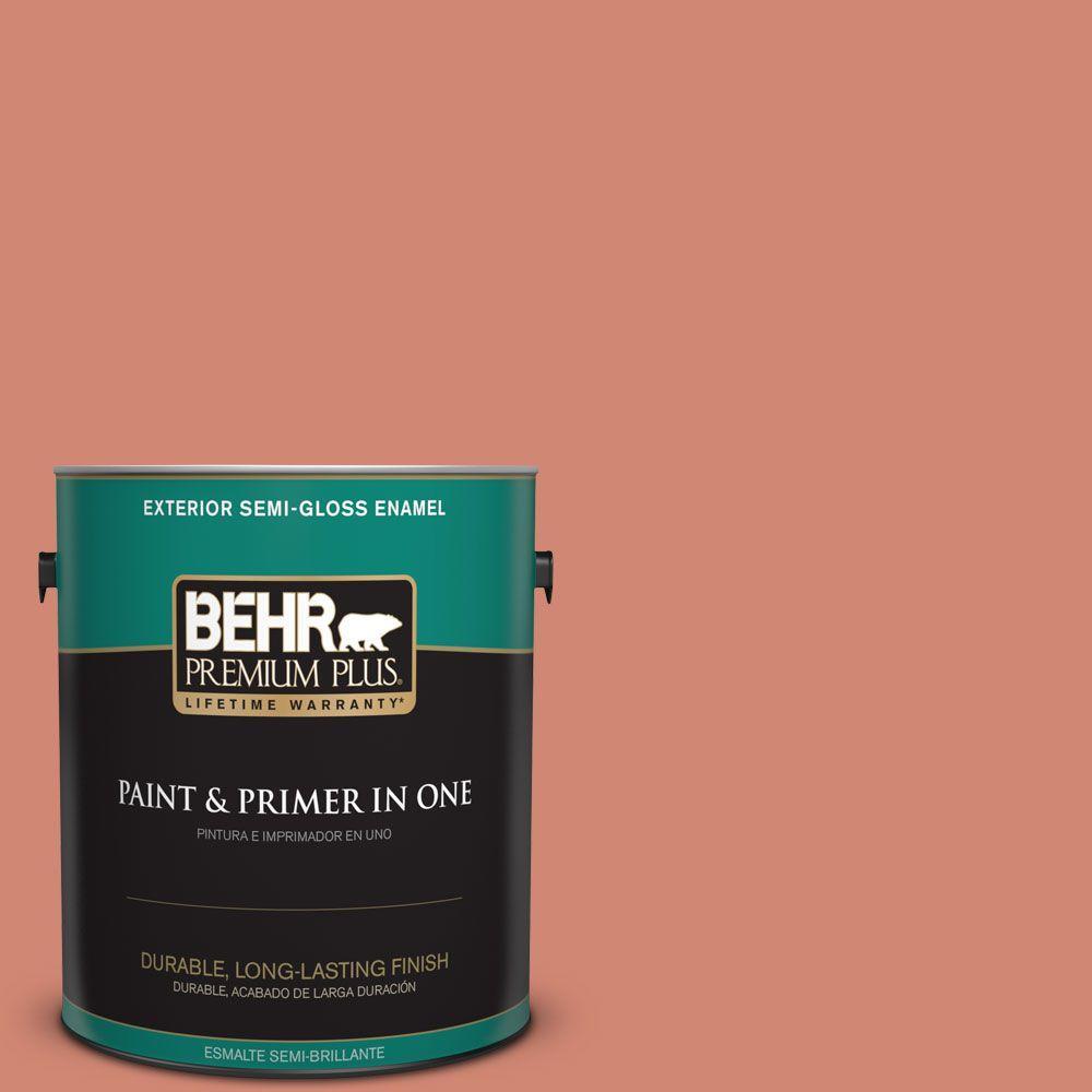 1 gal. #HDC-WR16-02 Rosy Copper Semi-Gloss Enamel Exterior Paint