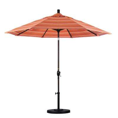 9 ft. Outdoor Market Patio Umbrella Bronze Aluminum Pole Aluminum Ribs Push Tilt Crank Lift in Sunbrella