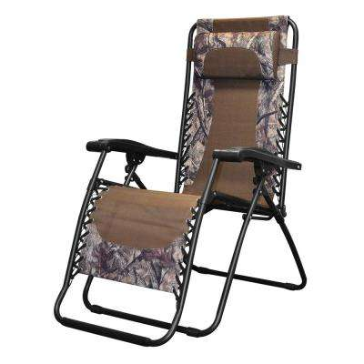 Infinity Camo Metal Zero Gravity Patio Chair
